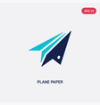 two color plane paper icon from general concept vector image