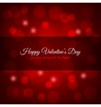 valentines day red lights design background vector image