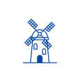 windmill sign line icon concept windmill sign vector image vector image