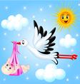 Stork Nursery Background vector image