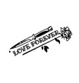 a tattoo featuring a knife and a rose the vector image vector image
