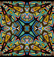 abstract mosaic kaleidoscope background vector image vector image