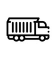 agricultural cargo truck thin line icon vector image vector image
