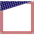 american flag symbols square border corner vector image vector image