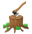 axe in the stump vector image vector image