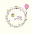 birthday wreath vector image vector image