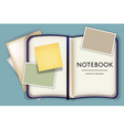blank notebook or diary memo notepad paper and vector image vector image
