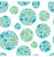 Blue green geometric mosaic circles with