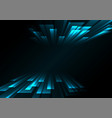 blue overlap stripe rush in dark background vector image