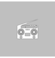 boombox computer symbol vector image vector image