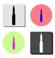 bullet flat icon vector image