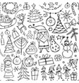 christmas set seamless pettern for your design vector image