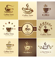 coffee icons big set vector image vector image