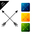 crossed arrows icon isolated set icons colorful vector image vector image