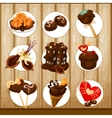decorative chocolate set vector image