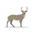 deer in the christmas garland vector image vector image