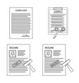 design of form and document icon set of vector image