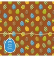 easter pattern with egg label vector image
