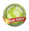 environmental label vector image vector image