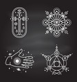 esoteric symbols thin line geometric vector image vector image