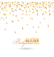Fallen Golden Glitter or Confetti Background vector image vector image