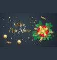 feliz ano nuevo spanish happy new year golden vector image vector image