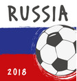 flag design for world cup russia vector image