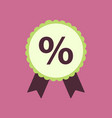 flat icon of discount ribbon vector image vector image