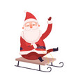 funny santa claus cute christmas and new year vector image