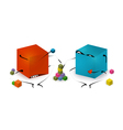 Funny Toy Blocks Playing vector image