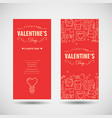 happy valentines day vertical banners vector image vector image