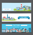 industrial factory banners vector image vector image