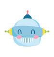 kids toys robot head cartoon isolated icon design vector image