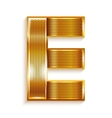 Letter metal gold ribbon - E vector image vector image