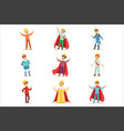 little boys in prince costume with crown and vector image vector image
