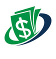logo for financial management vector image
