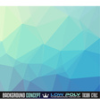 Low Poly Art background for your polygonal flyer vector image vector image