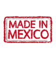 made in mexico stamp text vector image vector image