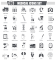 Medical black icon set Dark grey classic vector image vector image
