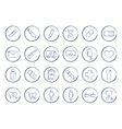 Medicine pen drawing linear icons vector image vector image