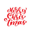 Merry christmas red vintage text