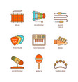 minimal lineart flat musical instrument iconset vector image vector image