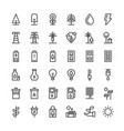 nature and energy ecological thin line icon set vector image