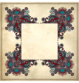 Ornamental floral pattern vector image