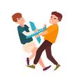 pair angry fighting children conflict between vector image vector image