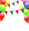 Party Background with Balloons vector image vector image