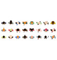 people top view male and female characters view vector image vector image