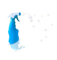 plastic bottle with detergent vector image vector image