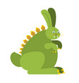 prehistoric rabbit dinosaur dino bunny raptor vector image vector image