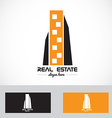 Real estate skyscraper logo vector image vector image